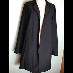 Eileen Fisher black open front cardigan size XL